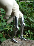 C 012 Miniature leg armour with narrow Solerettes instead of Sabatons for fitting inside stirrups