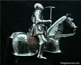 A 002 Fully articulated miniature horse armour and knight complete with deerskin saddle and chainmail