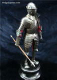 G 001 Miniature eary 16th century blackened Greenwich style Armour for field and tournament