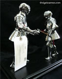 Z 001 Fully articulated fighting pair of miniature Tonlet armours courtesy of Christies London