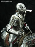 A 004 Fully articulated miniature horse armour showing Besagues and poleaxe