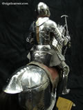 A 006 Fully articulated miniature horse armour showing Crupper and Cantle detail