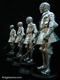 B 001 Each miniature armour stands at just over ten inches in height so is approximately one sixth scale