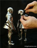 B 003 Just like period armour of this type each miniature tonlet armour has a hand-forged one-piece skull