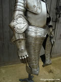 A 003 Cuirassier armour Tasset and Couter detail