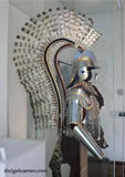 L 002 Polish Winged Hussar armour showing all 86 hand painted eagle feathers