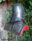 M 002 English Civil War Gorget rear showing two raised and engraved rear panels