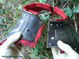 M 003 English Civil War Gorget showing simple keyhole locking system