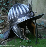 B 001 Fluted Prussian cavalry helmet 1650-75