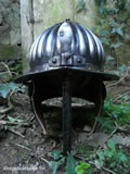 B 003 Fluted Prussian cavalry helmet front