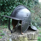 C 002 3-Bar pot helmet (used as a cement bucket) after restoration and lining