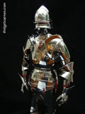 D 002 Rare Milanese miniature armour after restoration and re-leathering